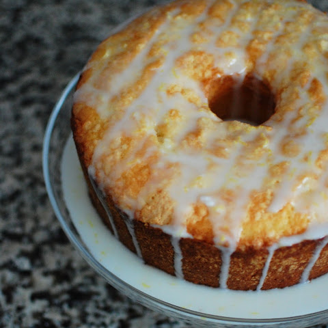Lemon Pound Cake with Strawberries