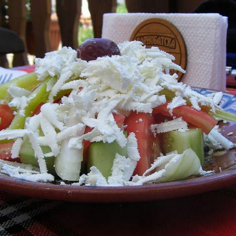 Authentic Bulgarian Salad Calls For Fresh Veggies And Feta Cheese