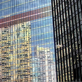 reflections by Fraya Replinger - Buildings & Architecture Office Buildings & Hotels ( building, buildings, reflections, windows, architecture )