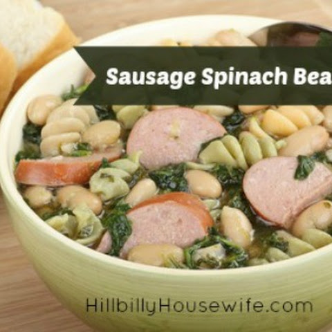 Sausage Spinach Bean Soup