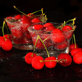 cherry in glass by LADOCKi Elvira - Food & Drink Fruits & Vegetables