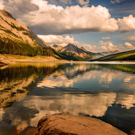 Medicine Lake by Joseph Law - Landscapes Waterscapes