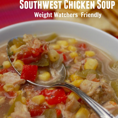 Skinny Slow Cooker Southwest Chicken Soup