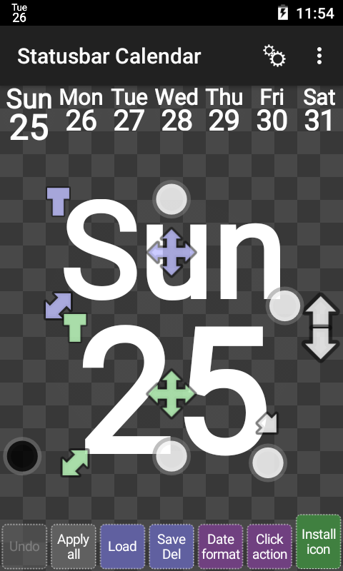 Status bar Calendar Screenshot 0