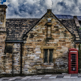 Old Durham by Adam Lang - Buildings & Architecture Homes ( post box, durham, red, house, north england )