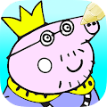 Free Coloring Papa Pig Book APK for Windows 8