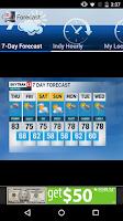 Screenshot of WTHR SkyTrak Weather