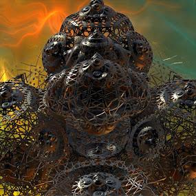 Hard To Starboard! by Rick Eskridge - Illustration Sci Fi & Fantasy ( fantasy, jwildfire, mb3d, fractal, twisted brush )