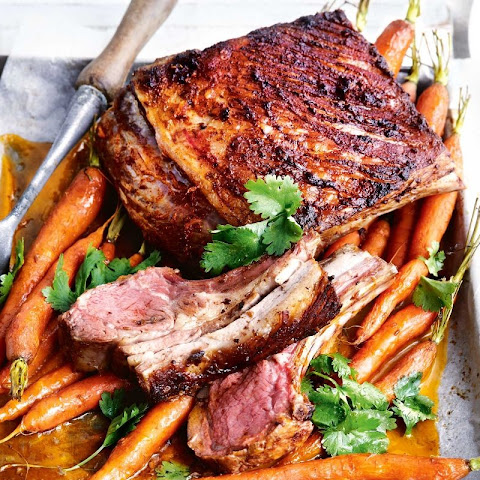 Harissa Lamb With Roast Carrots And Quinoa Pilaf