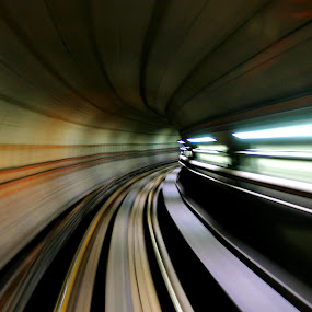 WARP by Suehana SuZie - Travel Locations Subway ( line, train, light, tunnel, city )
