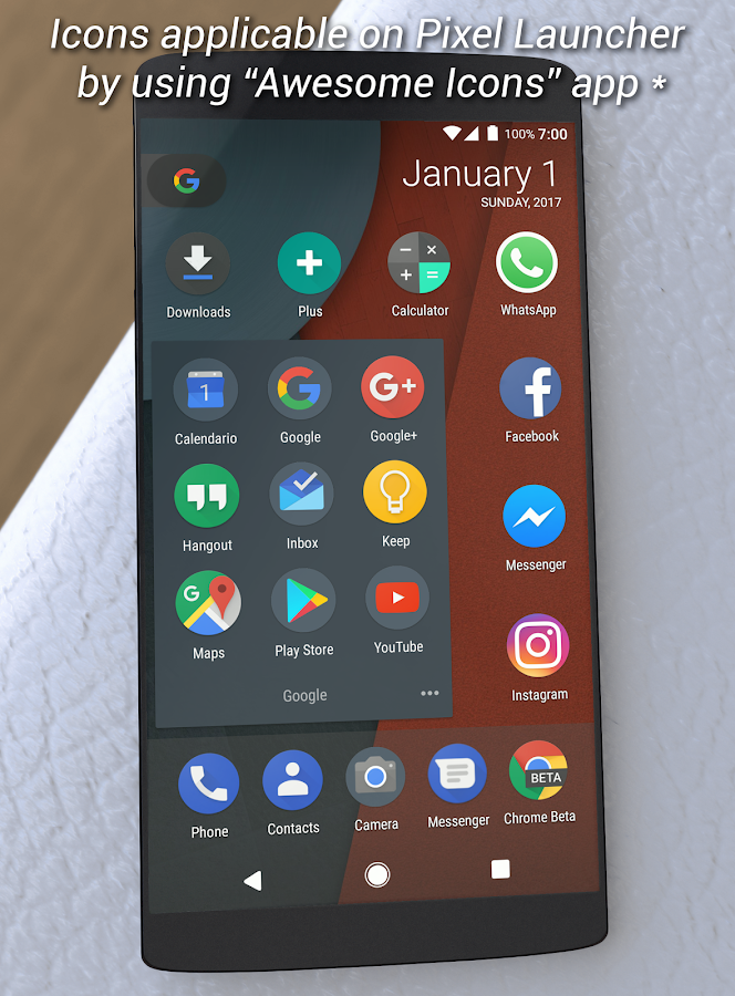 Dark Pixel Icon Pack,Nova/Apex Screenshot 0