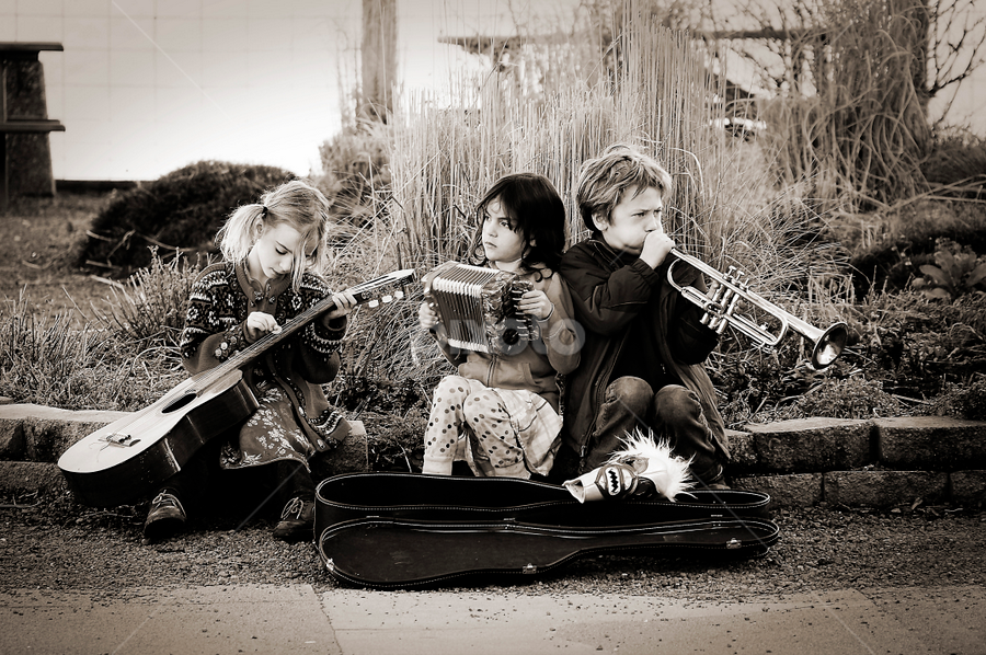 Children Band by Elizabeth Liebenberg Werner - Babies & Children Children Candids ( music, child band, musical instruments, children, kids )