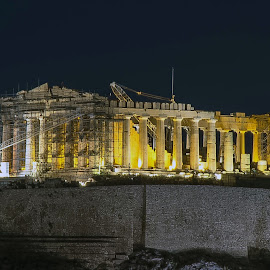 Parthenon of Athens by Ioannis Alexander - Buildings & Architecture Public & Historical ( history, ancient, night photography, columns, long exposure, monument, historic district, historic,  )