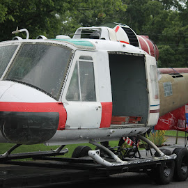 Huey by Tracy Corello - Transportation Helicopters ( helicopter, parade, old, huey, military )