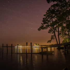 a night under the stars by Trey Walker - Novices Only Landscapes ( gulf coast, stars, pier, night, photography )