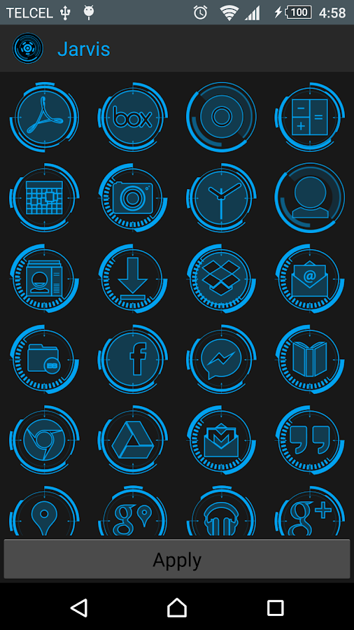 JARVIS - icon pack Screenshot 1