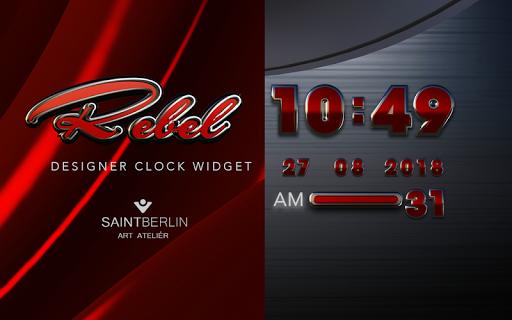 Rebel Digital Clock Widget - screenshot