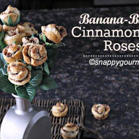 Banana-Bacon Cinnamon Roll Roses