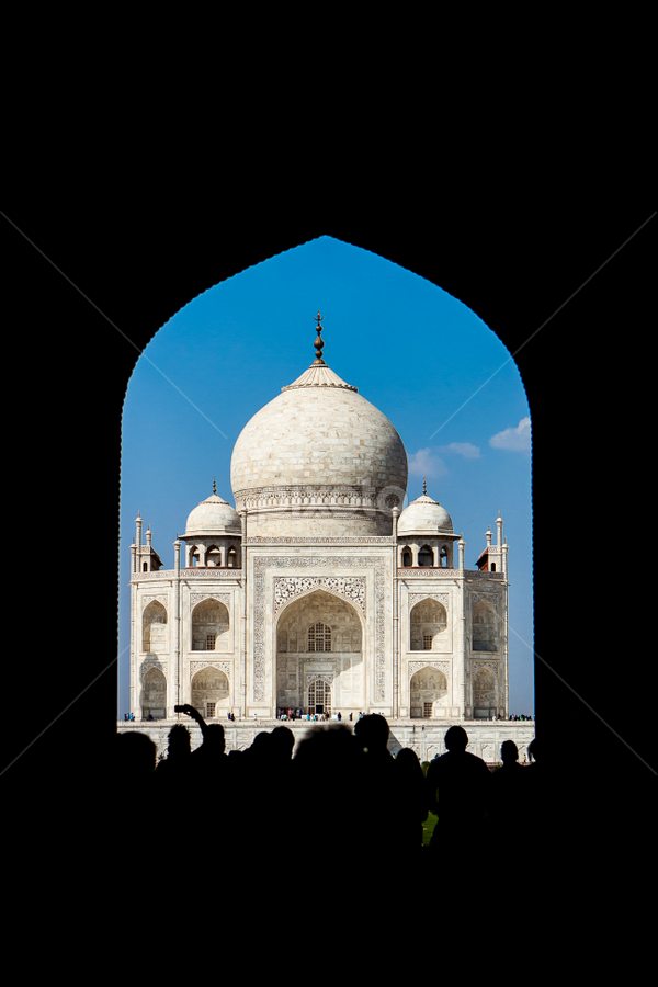 Taj Mahal view through the Archway by Joe Boyle - Buildings & Architecture Statues & Monuments ( history, statue, mausoleum, grand, art, taj mahal, monument, india, historical, big, artwork )
