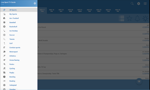 Free Live Sports TV Listings Guide APK for Windows 8