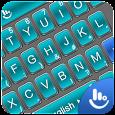 3D Blue Cool Tech Keyboard Theme