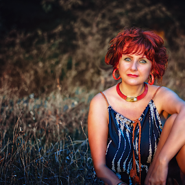 Silence by Alexandru Tache - People Portraits of Women ( love, life, red, color, sunset, outdoor, artistic, fashion photography, beauty, portrait, photography )