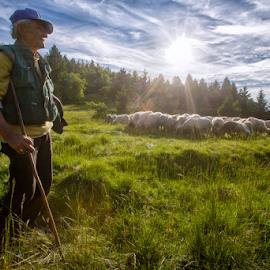 A shepherd by Stanislav Horacek - People Portraits of Men