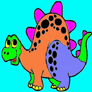 Coloring for Kids - Dinosaur Icon
