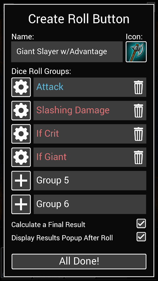 Dice To Go: Tabletop RPG Roller Screenshot 4
