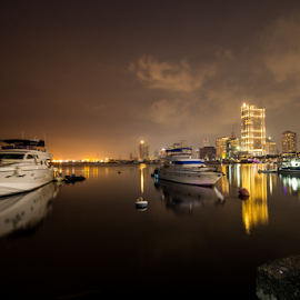 Manila Bay Harbor by Anton Labao - City,  Street & Park  Vistas