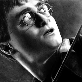 Harry Potter by Derek Kind - Drawing All Drawing ( pencil, graphite, harry, potter, movies, wizard, harry potter, drawing, radcliffe, wand )