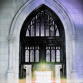 St Patrick's Cathedral, side entrance by Tricia Scott - Buildings & Architecture Places of Worship ( st patrick's cathedrial, church, door, windows, architecture, new york city, nyc, worship, entrance )