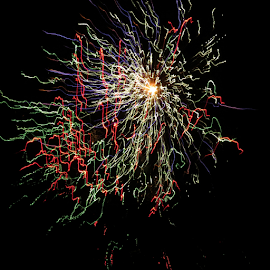 Fireworks! by Hal Gonzales - Abstract Fire & Fireworks ( black background, night, nightscape, fireworks, night photography,  )
