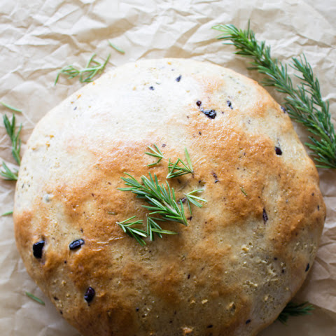 Simple Rosemary & Olive Bread