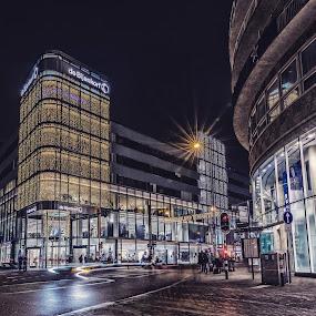 City lights in Utrecht, Netherlands  by Mike Allen - City,  Street & Park  Night ( lights, light trails, night, travel, netherlands, city )