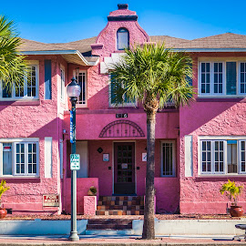 Pink House in Florida by Rajib Bahar - Buildings & Architecture Homes ( building, pink house, blue, florida, pink )