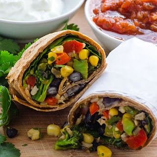 Clean Eating Broccoli and Spinach Burritos