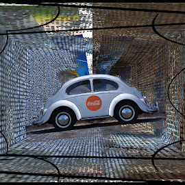 Bugscreen by Joerg Schlagheck - Digital Art Abstract ( coca cola, vw, now, bug, is always, good., right, er, beetle,  )