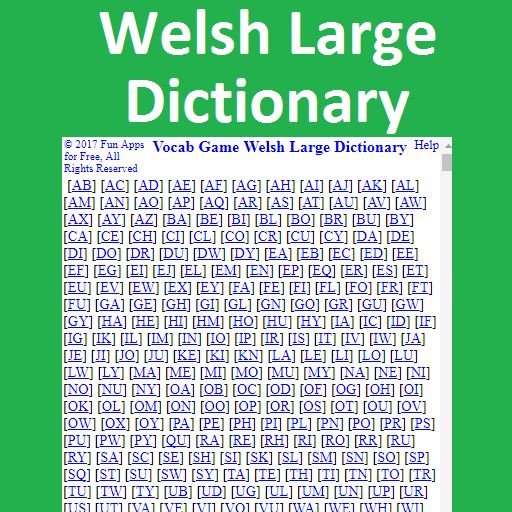 Vocab Game Welsh Large Dictionary (game)