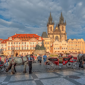 Staromestske namesti by Petar Shipchanov - City,  Street & Park  Historic Districts ( staromestske namesti, hdr, church, namesti, czech, czech republic, old town, castle, square, praha, prague )