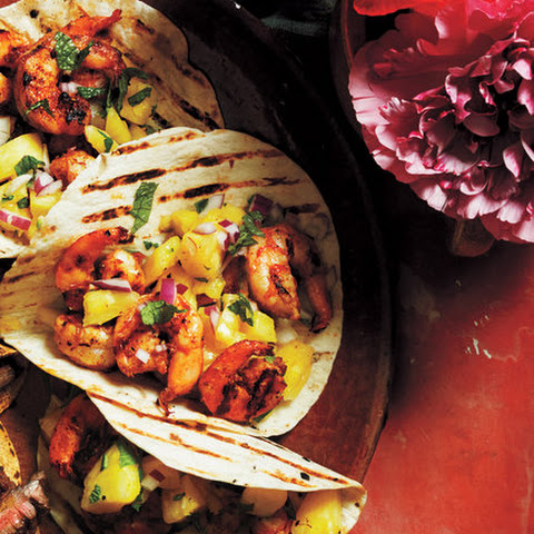 Grilled Chili Shrimp Tacos