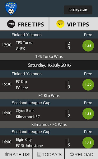 Betting Tips - screenshot