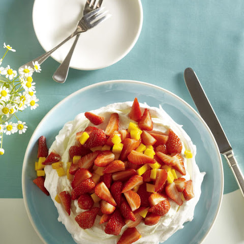 Strawberry-Mango Pavlova