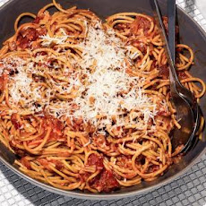 Spaghetti and Meatballs All'Amatriciana Recipe | Yummly