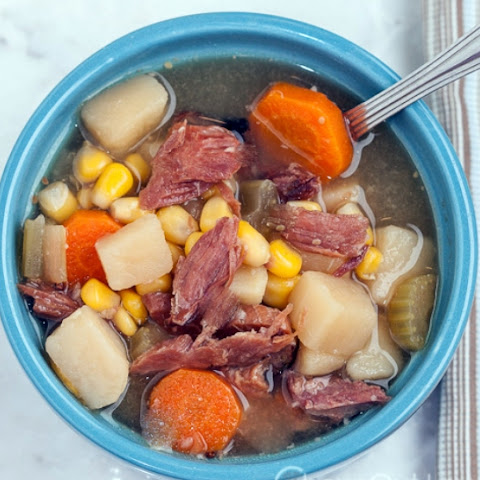 Crock Pot Leftover Ham Bone Soup 3 Smartpoints