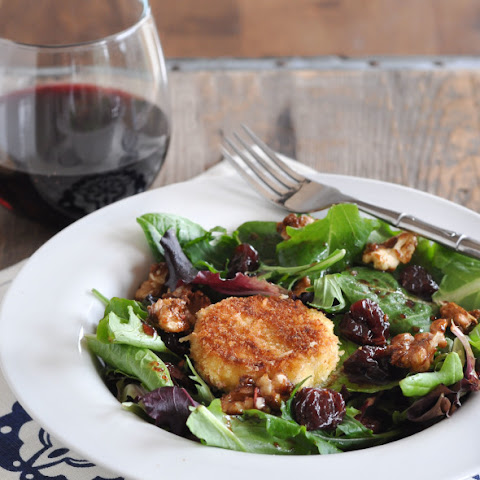 Cherry, Goat Cheese & Candied Walnut Salad + Cherry Balsamic Vinaigrette