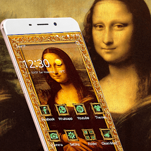 mona lisa theme painting smile