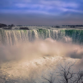 The Falls by Scott Hryciuk - Landscapes Waterscapes ( clouds, water, niagara falls, water falls )