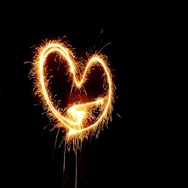 yes..its all about love :) by Prakriti Brahmachari - Abstract Light Painting