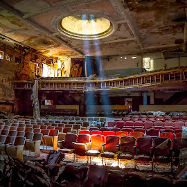 In the Spotlight by John Witt - Buildings & Architecture Decaying & Abandoned ( buffalo ny, my seats, abandonded, theatre, spotlight )
